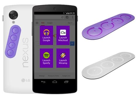 android buttons dimple adds buttons to nfc enabled android devices
