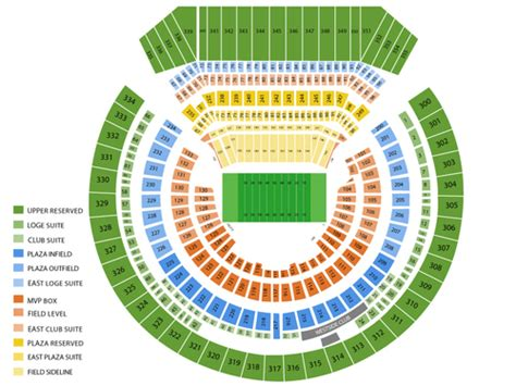 oakland athletics seat map oakland alameda county coliseum seating chart events in