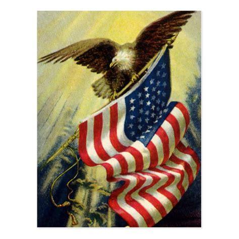 free printable patriotic postcards vintage patriotism patriotic eagle american flag postcard