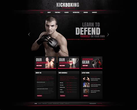 Boxing Moto Cms Html Template 46590 Boxing Templates Free