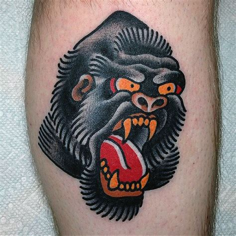 traditional gorilla tattoo 100 gorilla designs for great ape ideas