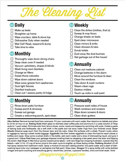 printable house cleaning schedule thyme joy