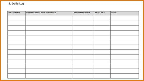 daily call report template 15 daily activity log excel template plantemplate info