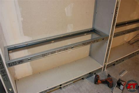 etagere placo brico r 233 aliser une biblioth 232 que en placo sur mesure