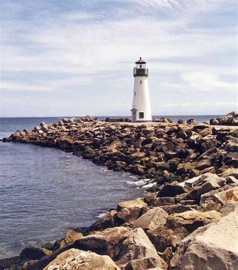 Light California by Santa Breakwater Walton Lighthouse California At