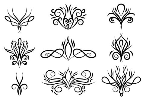 swirls free vector 23373 free downloads