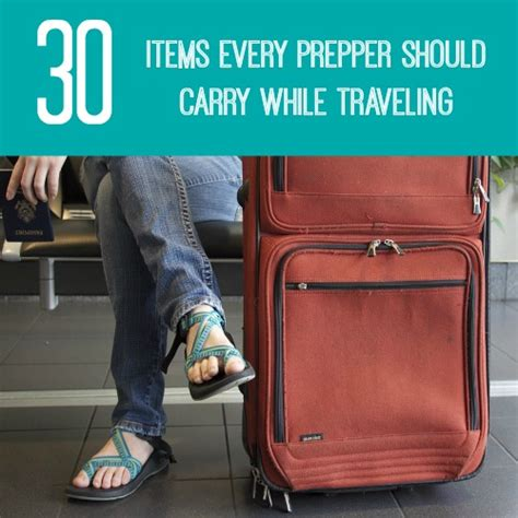 items every home should 30 items every prepper should carry when traveling