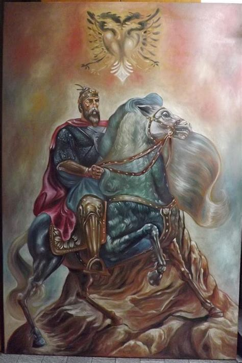 skanderbeg watching the arberia sale painting painting