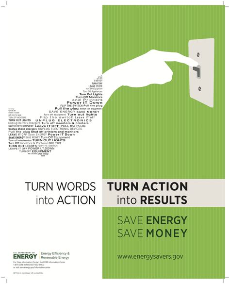 design poster highlighting energy conservation department of energy poster from 2011 turn words into
