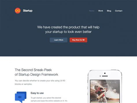 Startup Website Template Psd Freebiesbug Startup Website Template Free