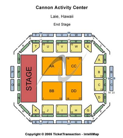 cannon center seating chart cannon activity center tickets in laie hawaii seating