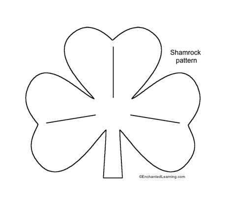 shamrock template enchantedlearning com