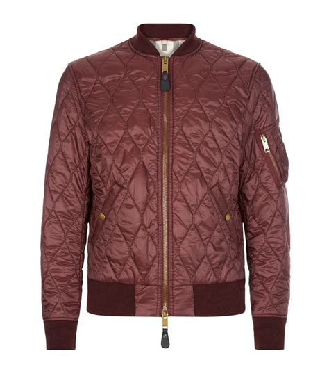 Quilted Bomber by Burberry Grandy Quilted Bomber Jacket In Purple For Lyst