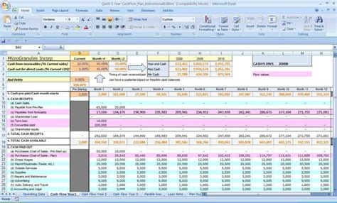 exle cash flow projection cash flow spreadsheet template haisume