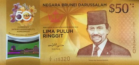 change new notes for new year singapore brunei and singapore new 50 dollar commemorative polymer notes