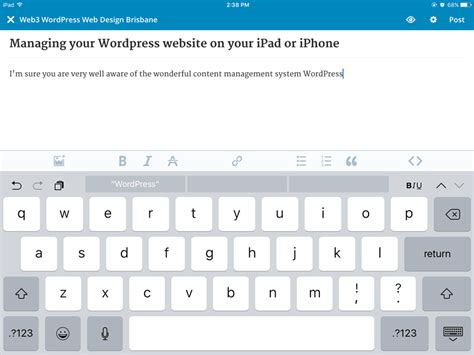 wordpress layout ipad managing your wordpress website on your ipad or iphone