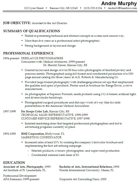 resume sles for photographers director resume objective dadaji us