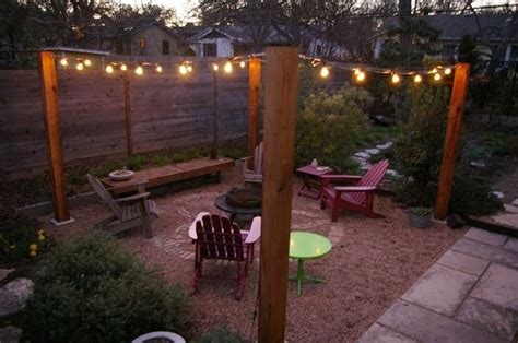 instant charm open patio with bistro lights or sunbrella