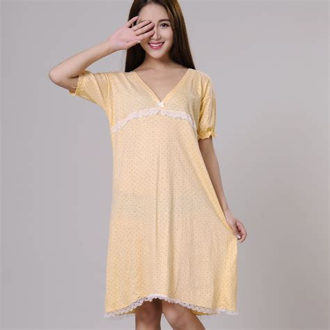 100 100 on neck 100 cotton nightgowns for summer sleepshirts 2018
