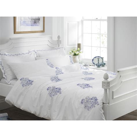 Blue And White Duvet Cover Helena Springfield Toile Blue And White Embroidered Duvet