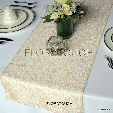 wedding table runners gold gold lace wedding table runner