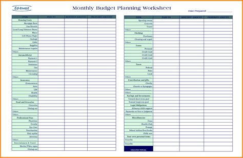budget planning template free 9 budget planning spreadsheet excel spreadsheets