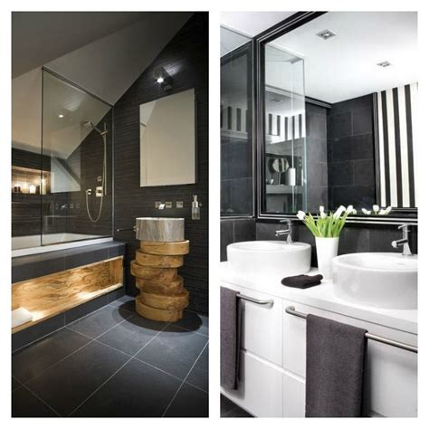 salle de bain ardoise naturelle  chic