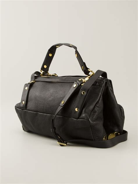 Golden Bag lyst golden tote bag in black