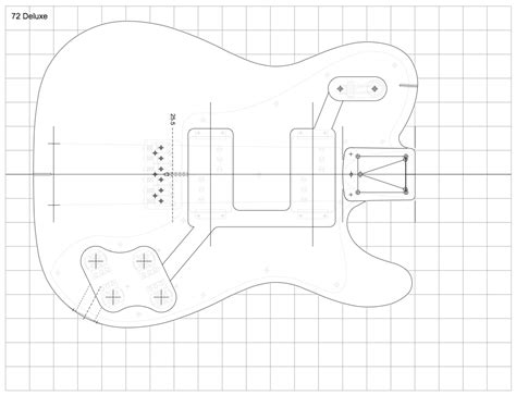 fender tele body template for crafts