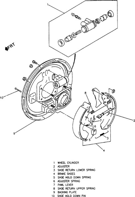2002 chevy tracker rear brake diagram chevrolet how do i assemble the rear brakes on a 2003