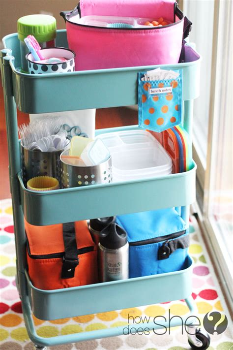 how to your to in one spot make a lunchbox station to organize all of your supplies in one spot plus other back