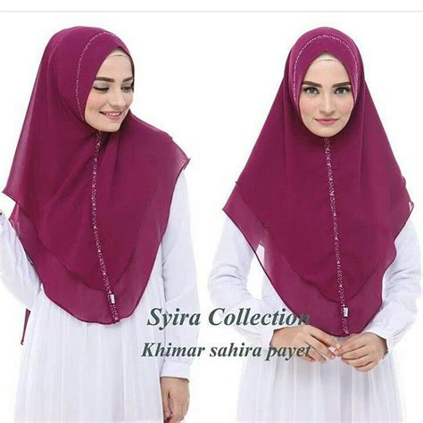 Sahira Syari by Khimar Sahira Payet By Syira Collection Khimar Pet Payet