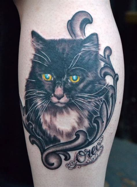 tattoo cat portrait cat portrait black and grey tattoo by diego tattoonow