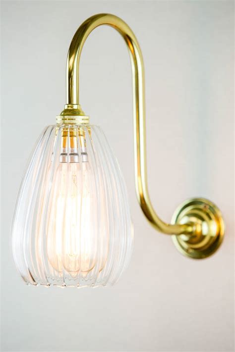 Handmade Wall Lights - molly handmade ribbed glass wall light by glow lighting