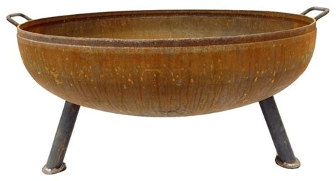 firepit bowls 36 quot heavy duty pit bowl rustic pits by