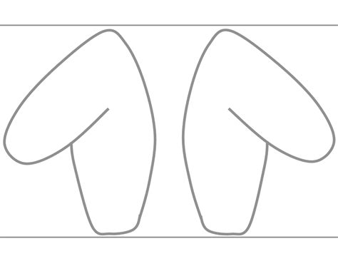 ear template free coloring pages of a bunny ear