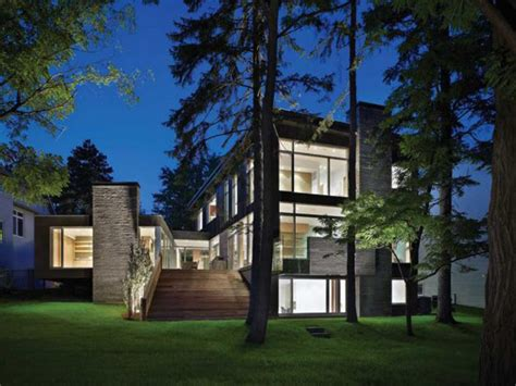contemporary house architecture ravine house in canada