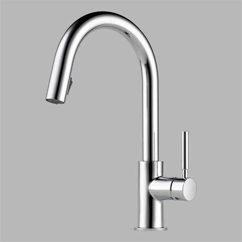 brizo 63020lf pc solna single handle pul down kitchen faucet in chrome