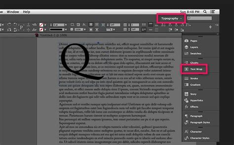 typography workspace photoshop wrap text around images and graphics in indesign adobe