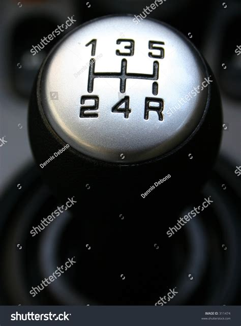manual shift car gear lever stock photo