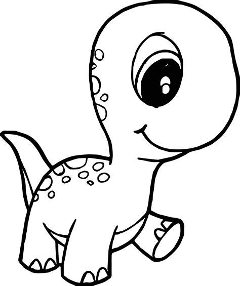 dinosaur cute baby walking coloring page wecoloringpage