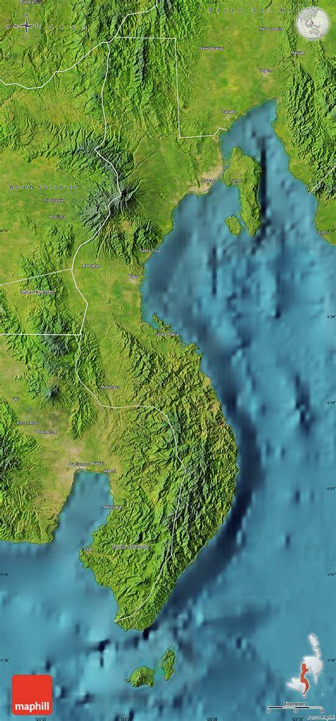 phil map via satellite satellite map of davao sur