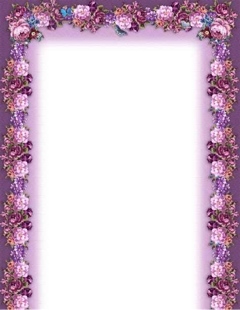 flower frame template free printable borders and frames new calendar template site