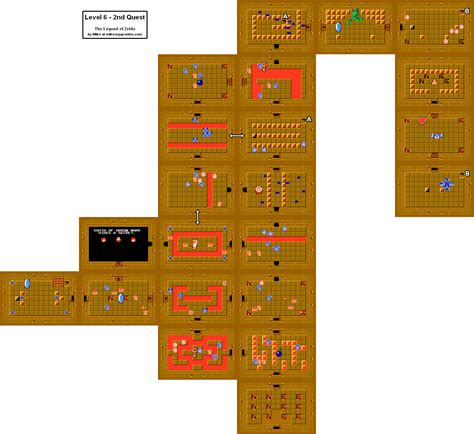 legend of zelda map level 6 the legend of zelda level 6 quest 2 nes map car interior