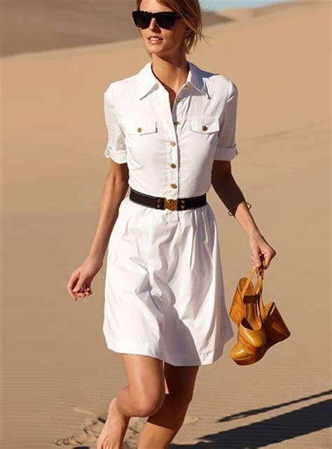 white belted shirt dress by burch fabulous fashion