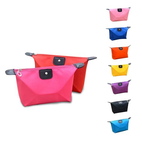 colourful cosmetic bag organizer pouch tas kosmetik elevenia