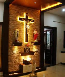 Traditional Kerala Home Interiors prayer portion designing