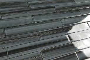 gray black 2x12 subway glass tile for kitchen