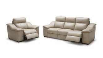 Home saffron modern beige leather sofa set