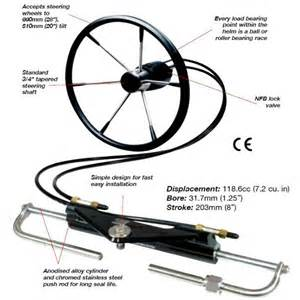 Hydraulic Steering Wheel For Boat Baystar Hydraulic Outboard Steering Kit To 150hp Front